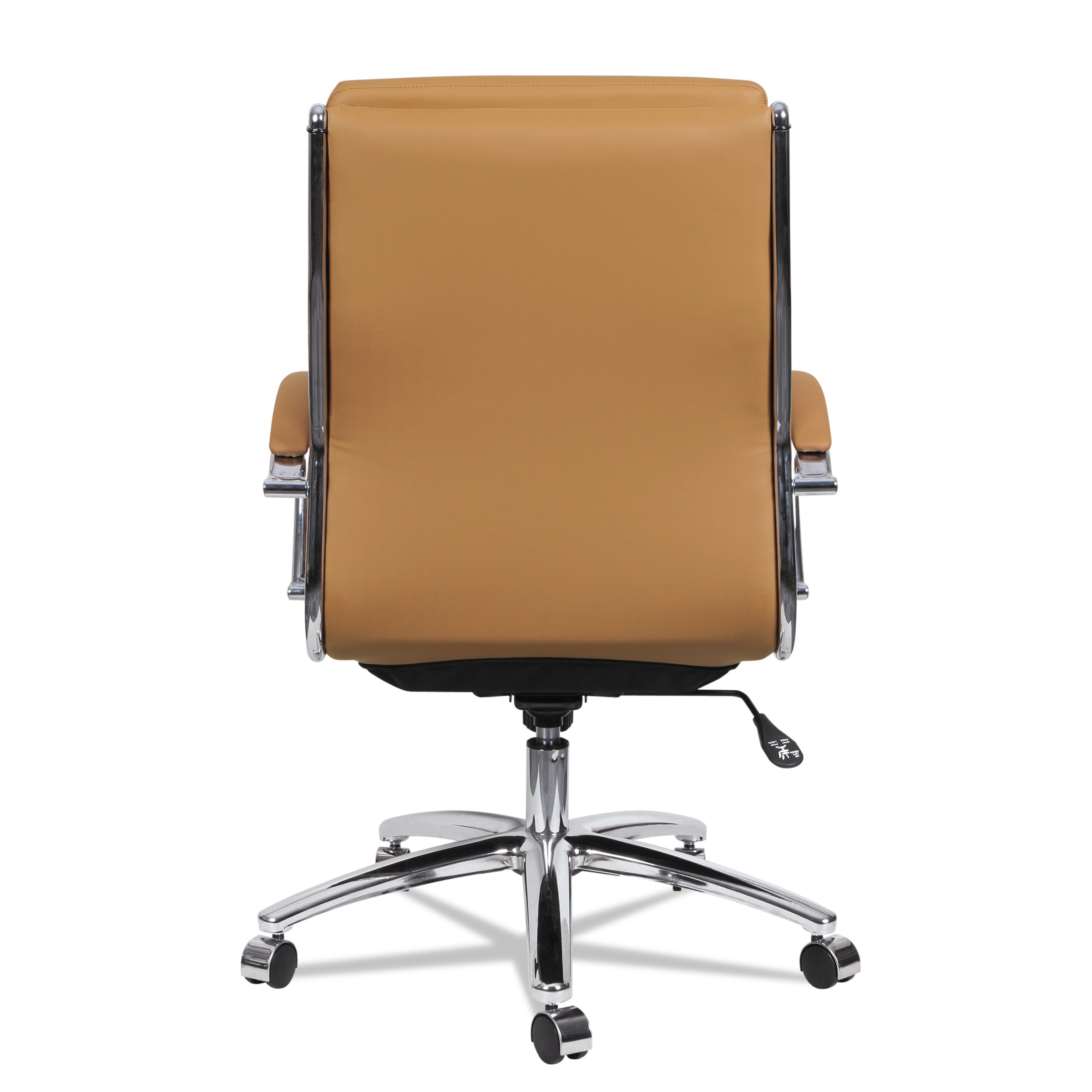 Alera Neratoli Series Mid-Back Swivel/Tilt Chair, Black Leather ...