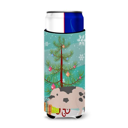 Gloucester Old Spot Pig Christmas Michelob Ultra Hugger for slim cans BB9307MUK