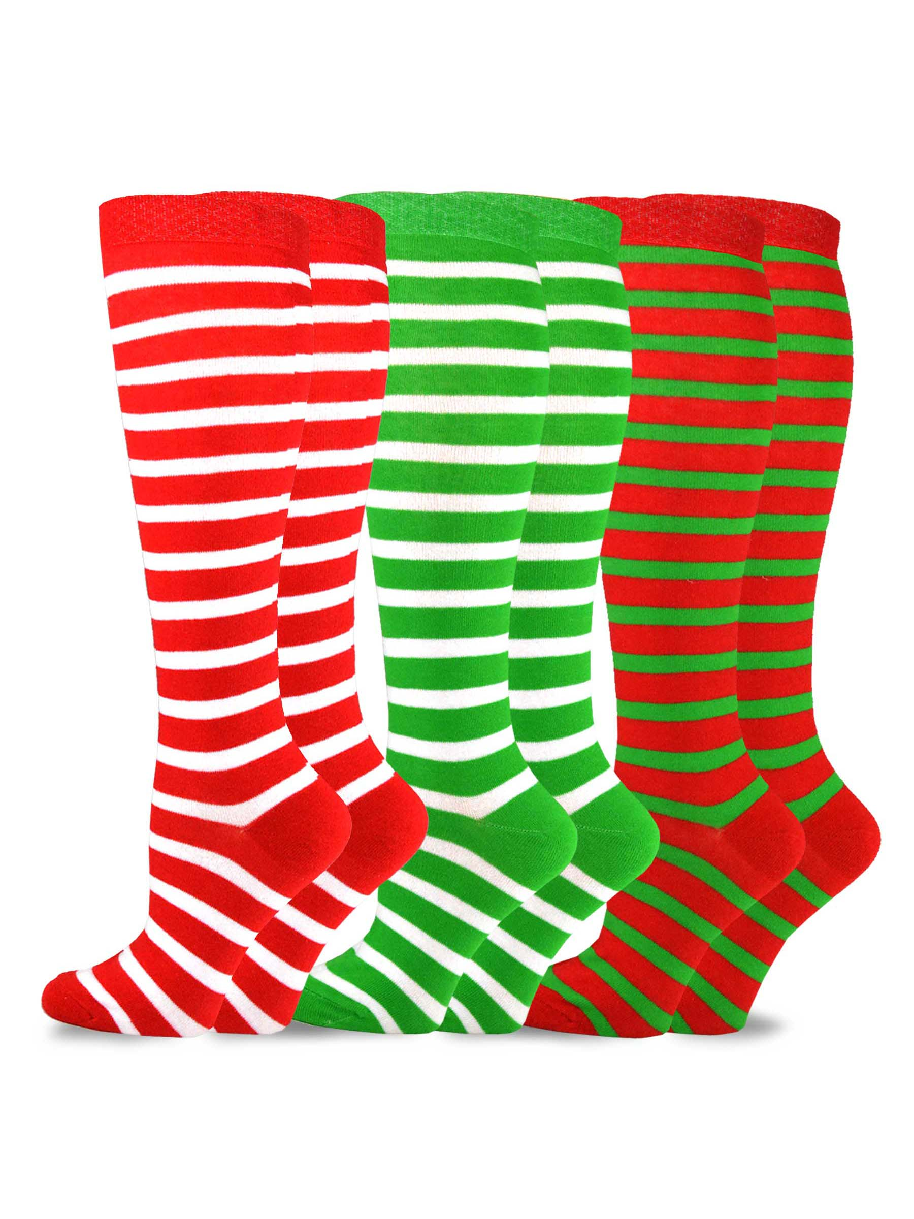 TeeHee Christmas and Holiday Fun Knee High Socks for Women 3-Pack