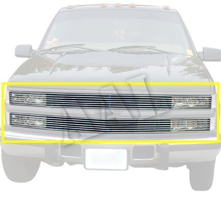 AAL REPLACEMENT BILLET GRILLE / GRILL INSERT For 1994 1995 1996 1997 1998 1999 CHEVY SUBURBAN (PHANTOM STYLE 7bars) 2PCS UPPER REPLACEMENT