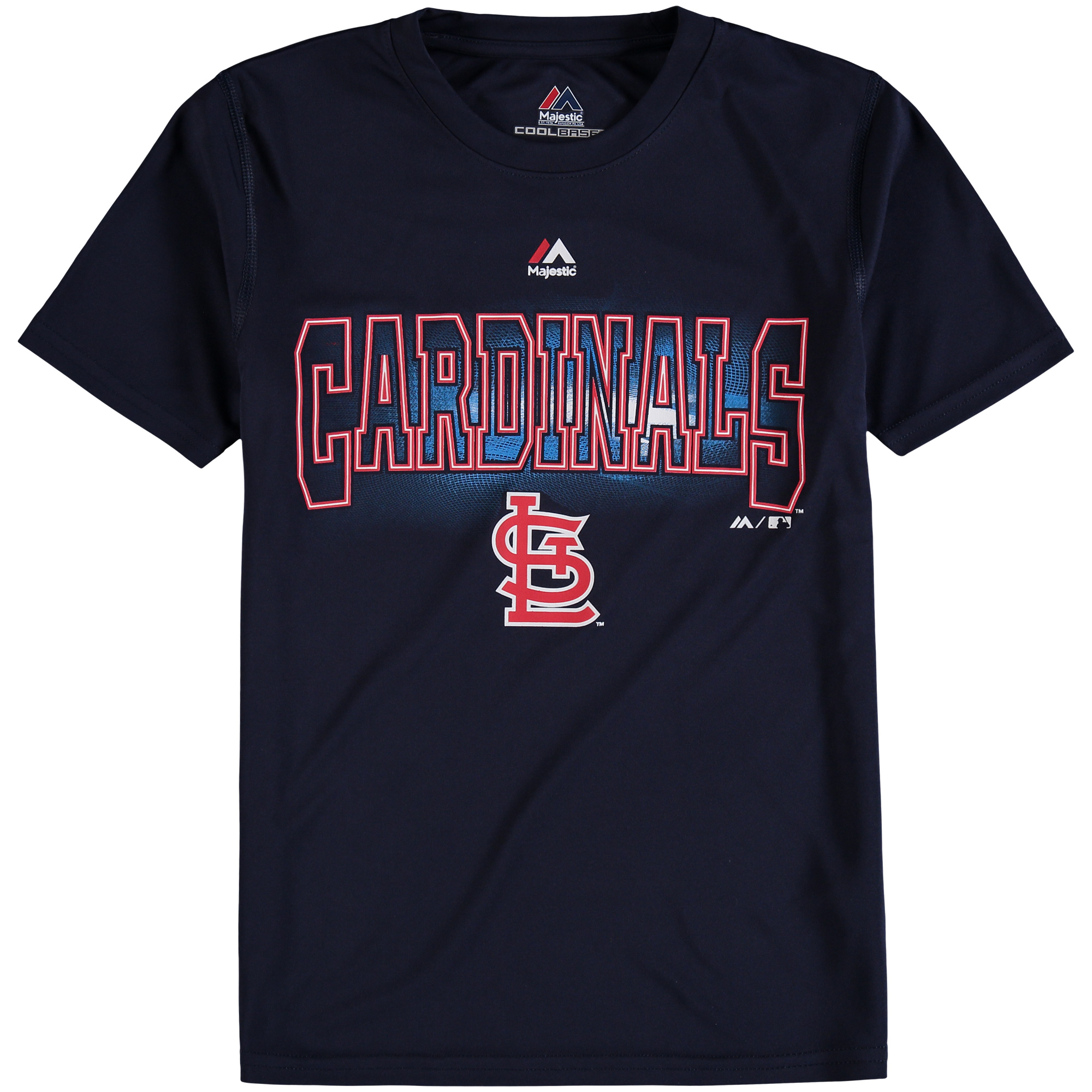 Youth Majestic Navy St. Louis Cardinals Light Up the Field T-Shirt