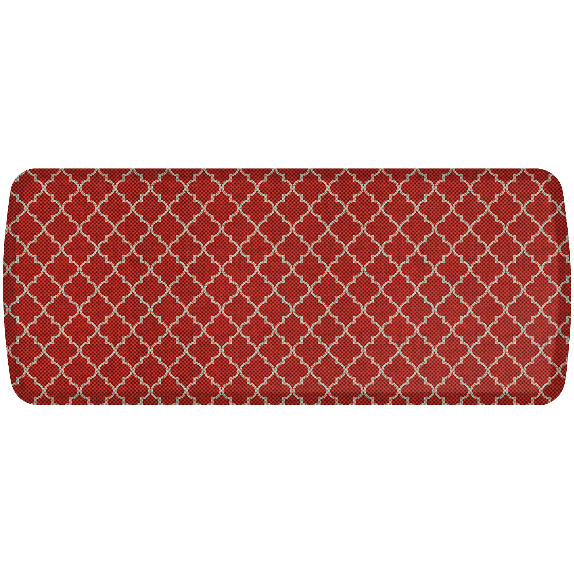 GelPro Elite Decorator Collection Anti-Fatigue Kitchen Floor Mat- Lattice-20x48-Cherry Tomato