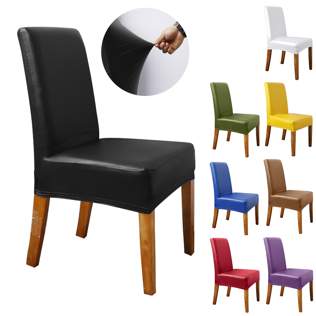 meaddhome pu stretch dining chair cover waterproof spandex