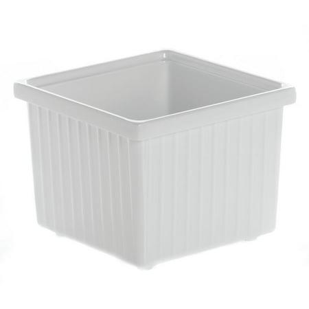 """Garnish Bowl Square White Melamine - 6"""" L x 6"""" W x 4 3/4 H"""