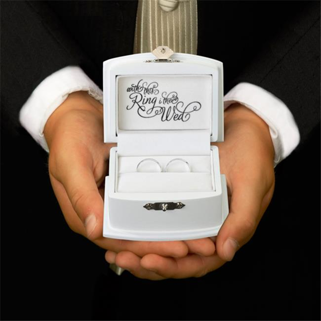 White Ring Bearer Box