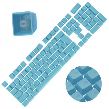 - Backlit Double Shot Color Keycaps Cherry MX Mechanical Keyboard Themes Blue 104