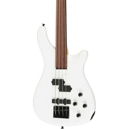 Rogue LX200BF Fretless Series III Electric Bass Guitar Pearl White