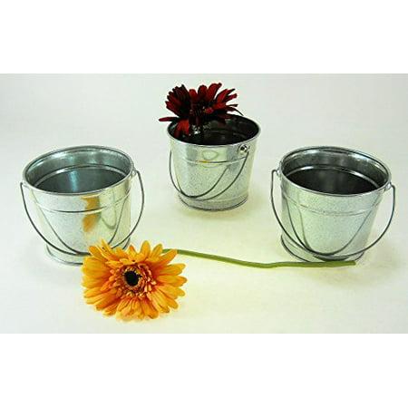 - B20 Galvanized Buckets w/ handle 1 qt 3 pc 5 inch wide, 4 inch tall