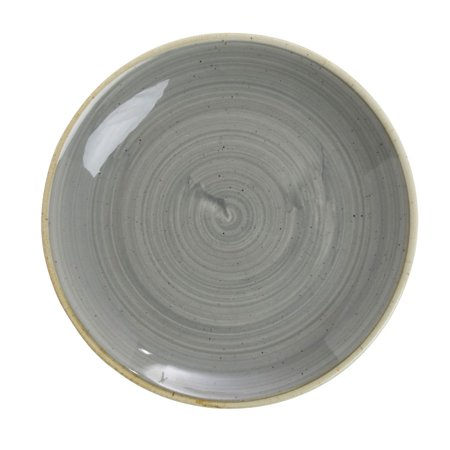 "Churchill Grey Coupe Luncheon Plate Super Vitrified Stonecast China - 6 1/2""Dia (SPGSEVP61)"