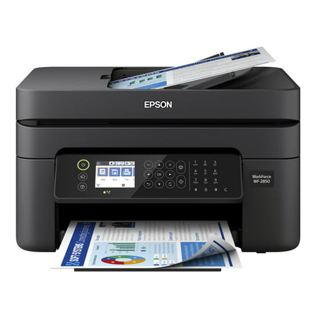 Epson WorkForce WF-2850 All-in-One Wireless Color Printer with Scanner, Copier and Fax (Digital Copier Color Scanner Fax)