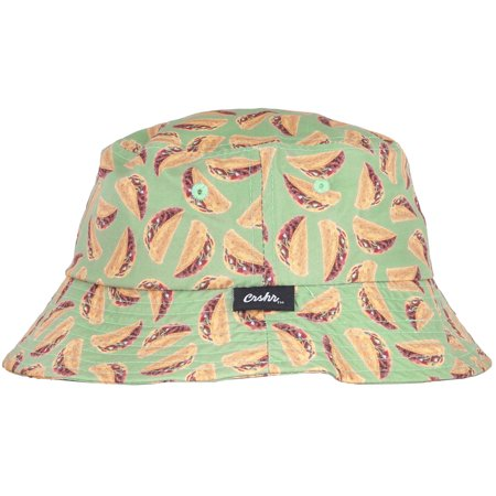 2a35660d675dc CRSHR - CRSHR Taco Bucket Hat Green Cap Party Headwear Fun Mens Hats OSFM -  Walmart.com