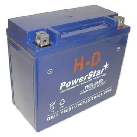 PowerStar PM20L-BS-HD-052 2007 Harley FXSTSSE Screamin Eagle Softail Springer Battery