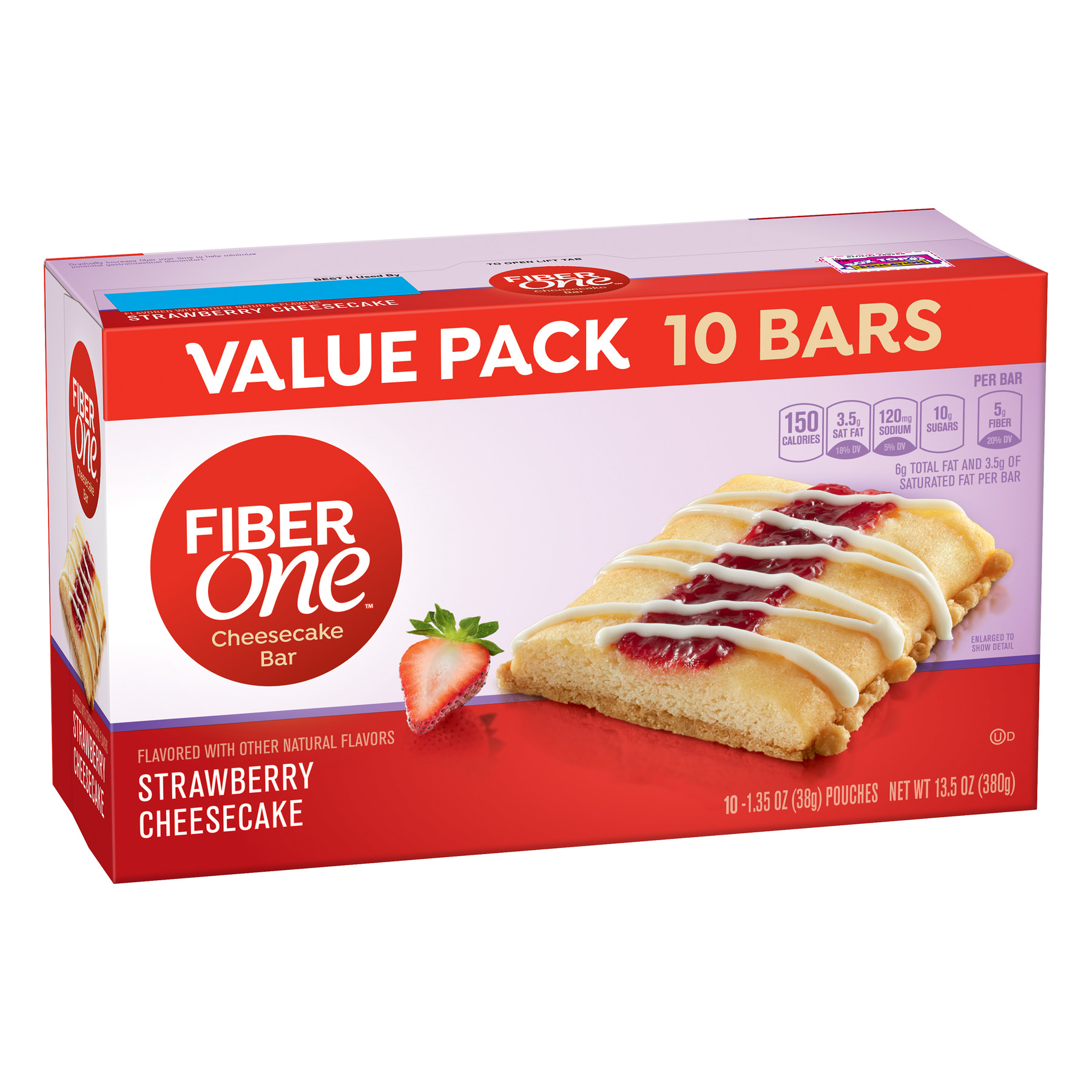 Fiber One Strawberry Cheesecake Bar Value Pack, 13.5 oz