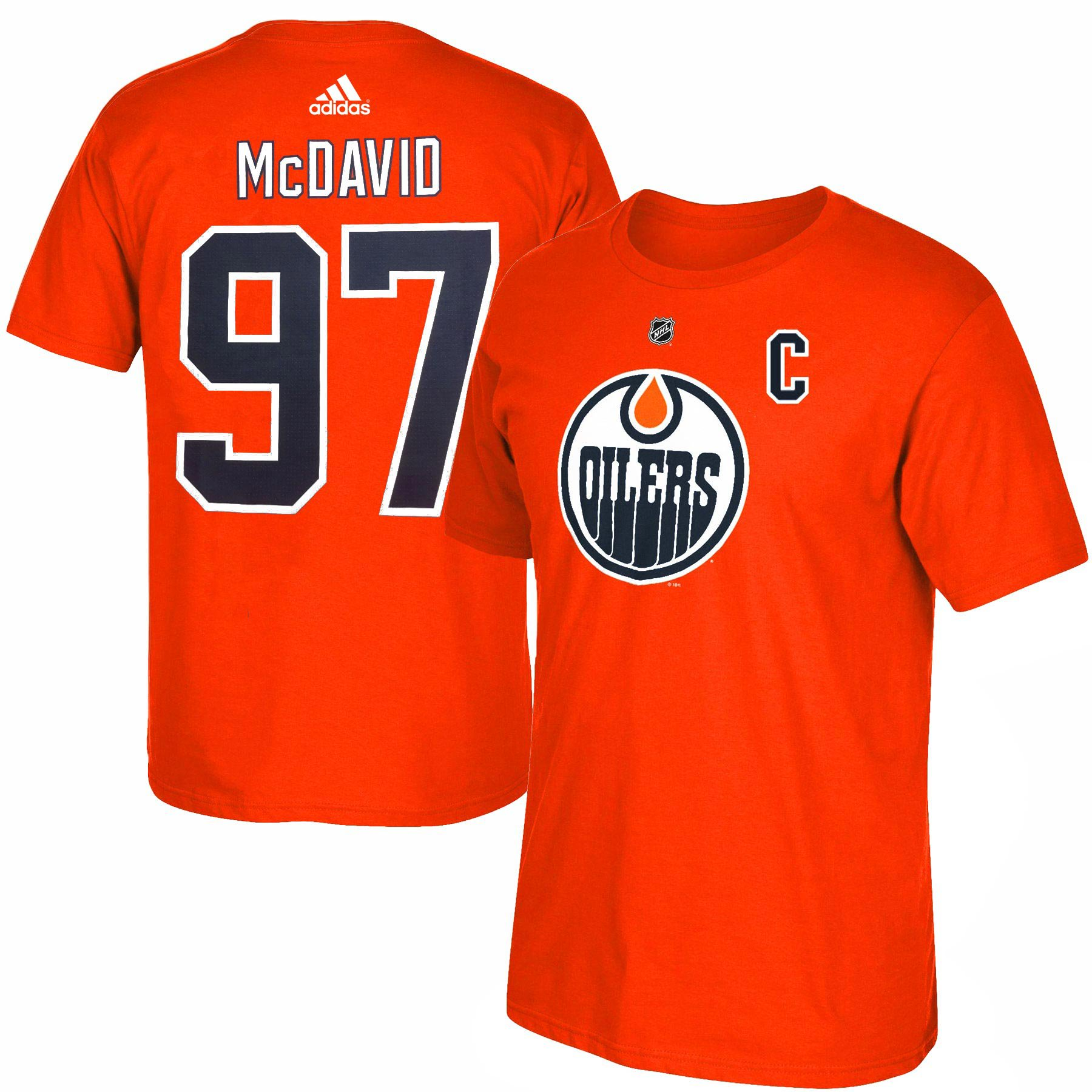 check out 2a82f 4deda Edmonton Oilers Connor McDavid Adidas NHL Silver Player Name ...
