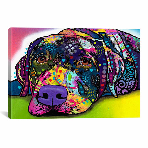iCanvas 'Savvy Labrador' by Dean Russo Graphic Art on Wrapped Canvas