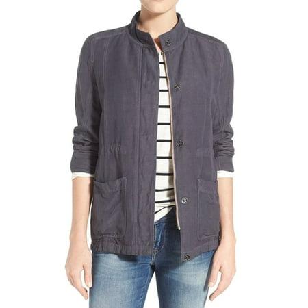 3cd22cdb741 Caslon - Caslon NEW Navy Blue Women s Size XS Full Zip Utility Jacket -  Walmart.com