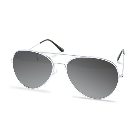 Silver Aviator Sunglasses - Costume Glasses - 70's Style Sunglasses Party Favors