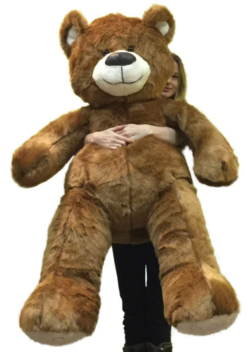 Giant Brown Teddy Bear 5 Foot American Made Soft, Made in USA Stuffed Animal by Big Plush