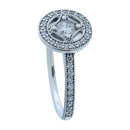 Pandora Authentic Vintage Allure Ring Clear Cz 191006cz