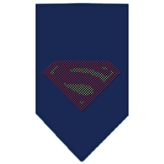 Super! Rhinestone Bandana Navy Blue Small