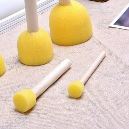 5pcs Assorted Round Paint Foam Sponge Brush Set Painting Tools Stippler for Kids Painting Crafts and (Sponge Painting Set)