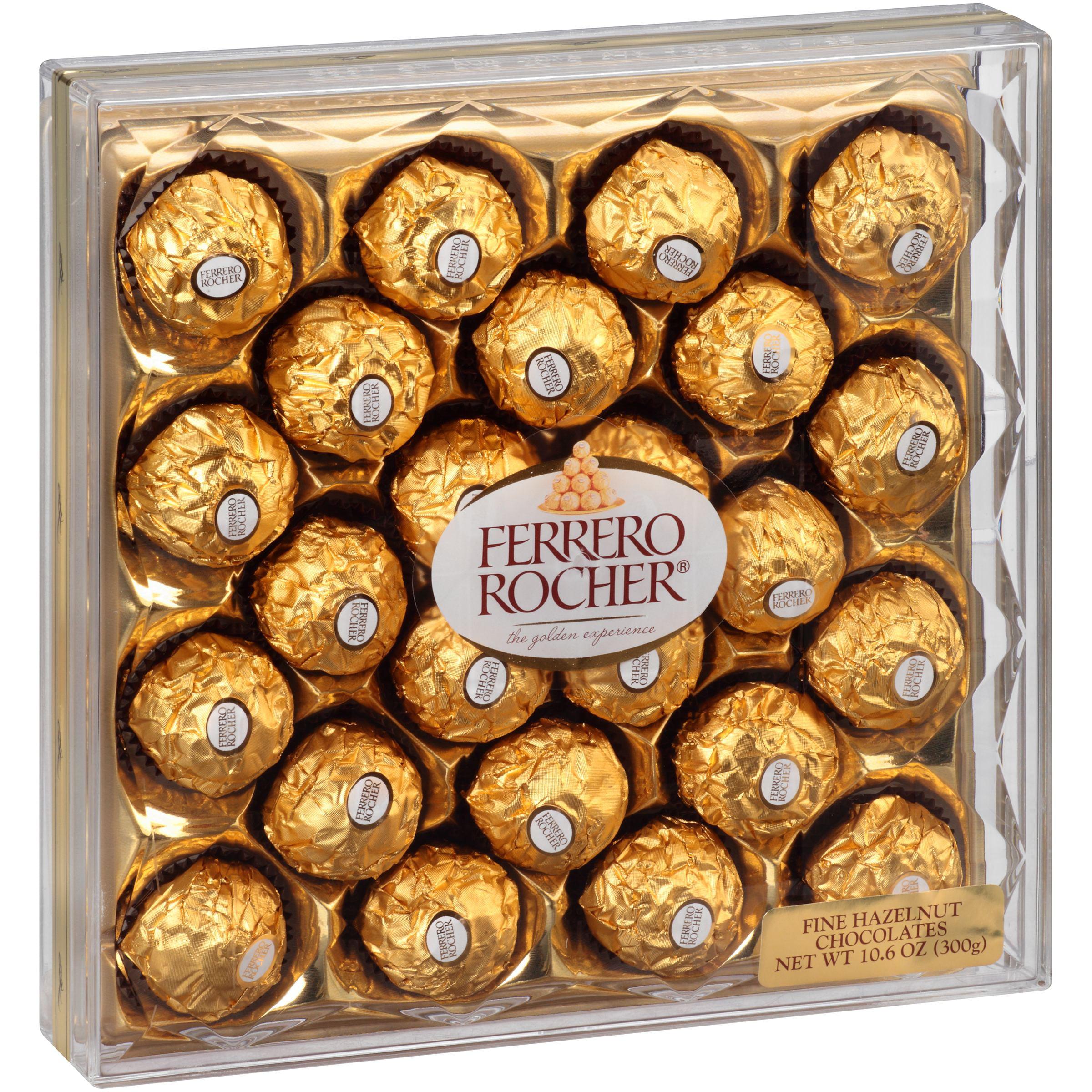 Ferrero Rocher Fine Hazelnut Chocolates, 10.6 oz