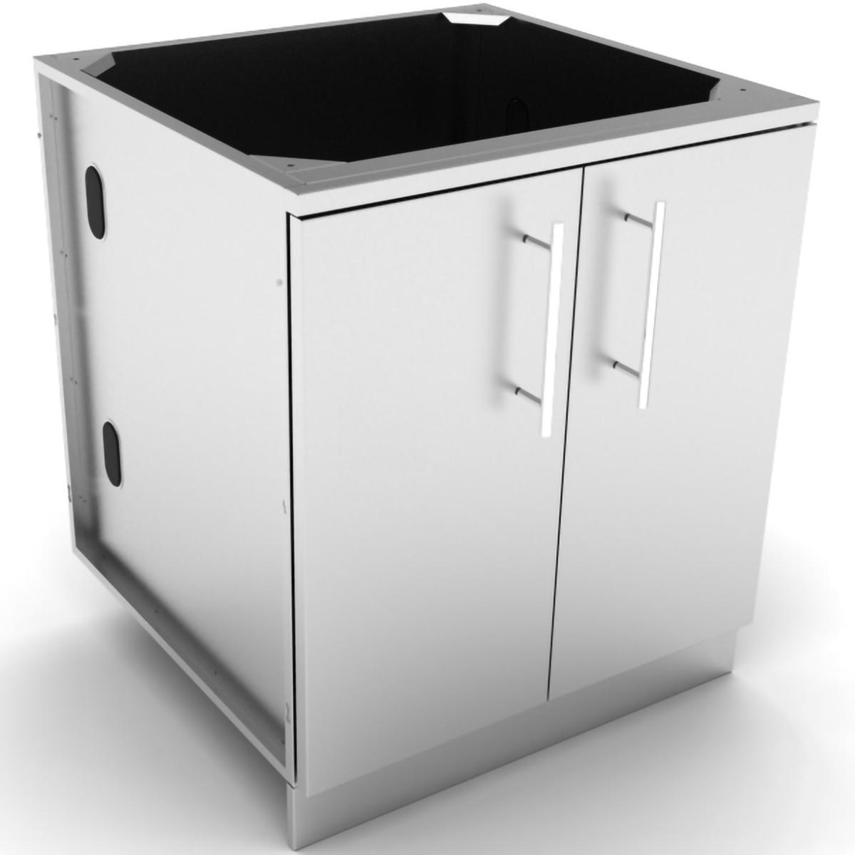 Sunstone 30-Inch Outdoor Kitchen Double Door Island Cabinet