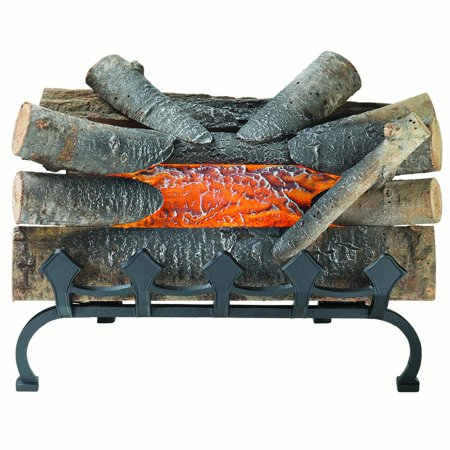 Bronze Fireplace Log - Pleasant Hearth L-20WG Electric Crackling Log w/Grate