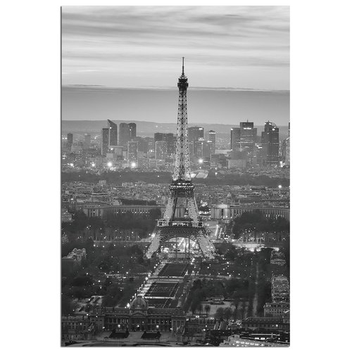 Modern Home Ultra High Resolution Tempered Glass Wall Art - Paris Eiffel Tower 2
