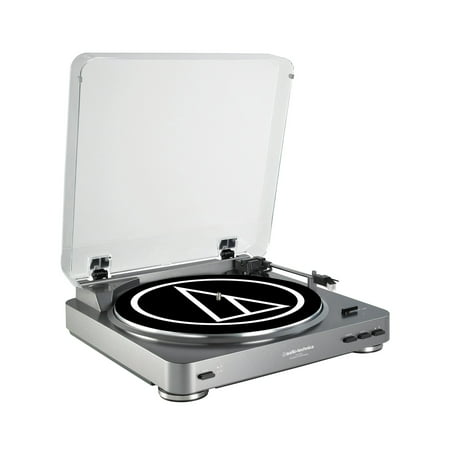 Audio Technica Automatic Stereo USB & Analog Record Player Turntable, Silver ()