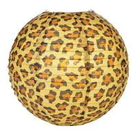 "Quasimoon 14"" Cheetah Print Paper Lantern by PaperLanternStore"