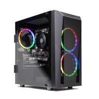 SkyTech Blaze II Gaming Desktop with AMD Hex Core AMD Ryzen 5 2600 / 8GB / 500GB SSD / Win 10 / 4GB Video