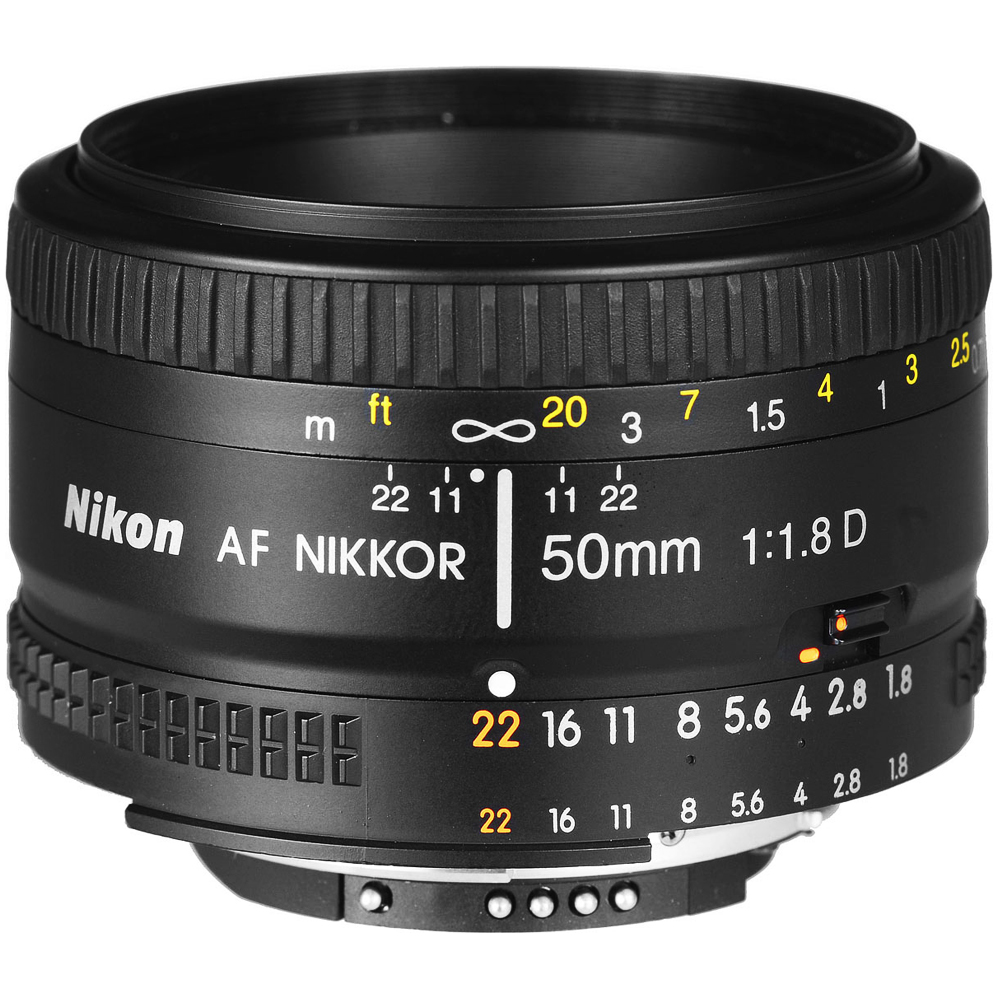 Nikon 50mm f/1.8D AF Nikkor Lens - Factory Refurbished includes Full 1 Year Warranty