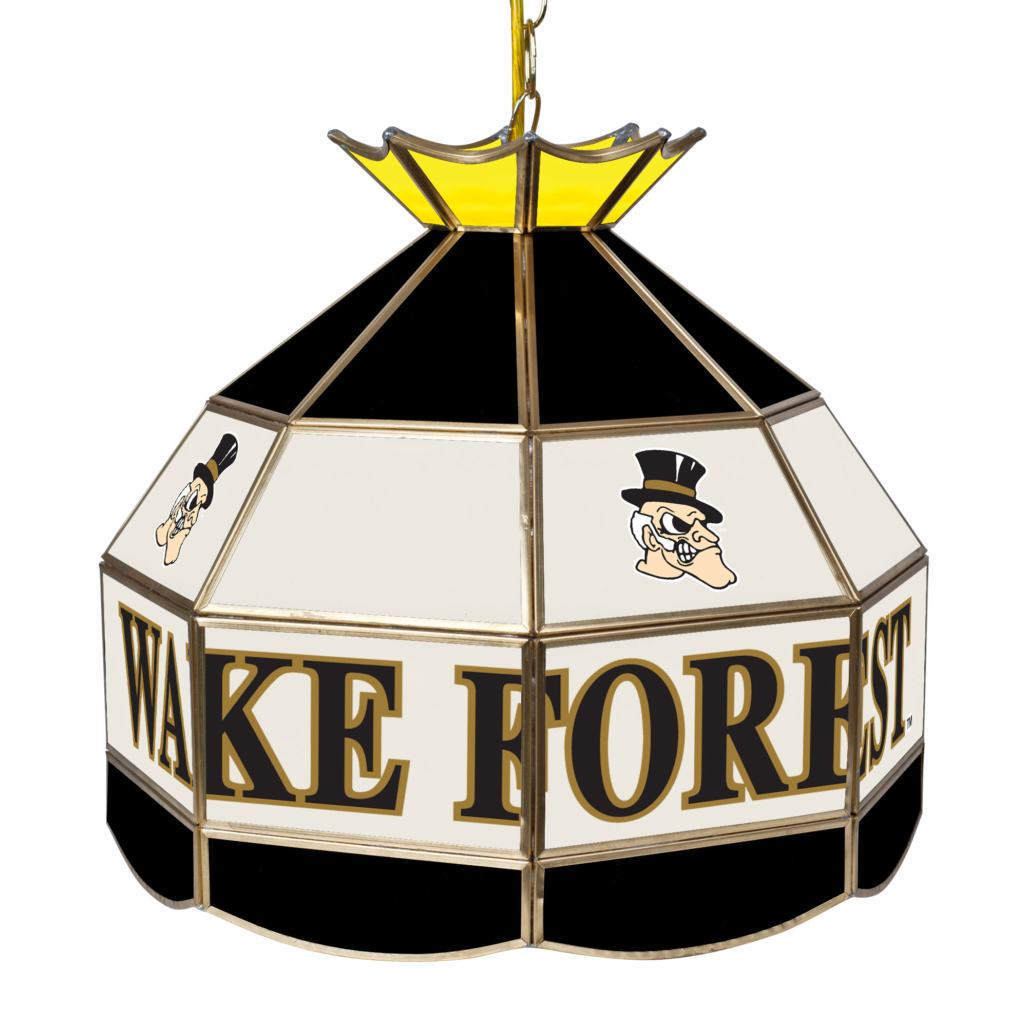 NCAA Wake Forest University 16 Inch Handmade Stained Glass Lamp