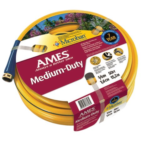 Ames True Temper All Weather Garden Hoses, 5/8 in X 50 ft, Yellow
