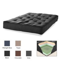 "S2G 6"" Innerspring Futon Microfiber Mattress, Multiple Colors"