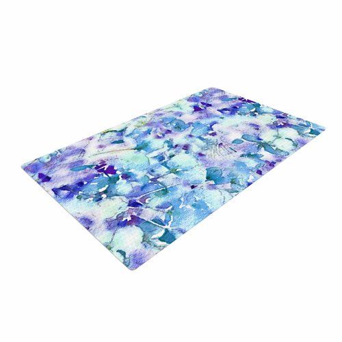Walmart Purple Rug: East Urban Home Carolyn Greifeld Floral Fantasy Blue Purple/White Area Rug