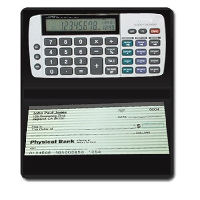 Teledex DB-413 Checkbook Calculator-Tracks Latest Savings  Checking  Credit Financial Entries