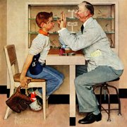 """Marmont Hill """"Eye Doctor"""" by Norman Rockwell Painting Print on Canvas"""