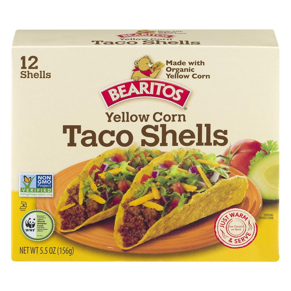 Bearitos Yellow Corn Taco Shells - 12 CT