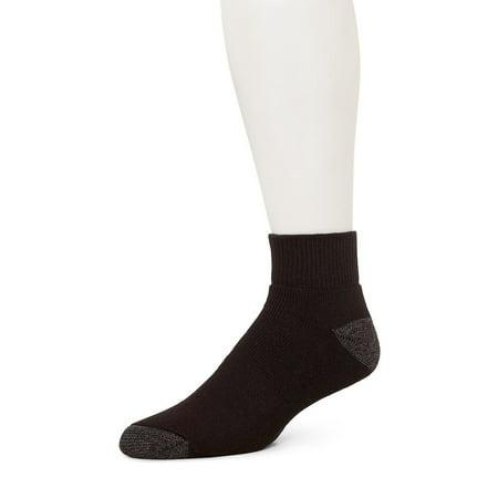 36ae377fe2836 Burlington - Mens Comfort Power Quarter Top Sports Socks Size 6-12, 10  Pairs (Black), Fits Shoe Size: 6-12. By Burlington - Walmart.com
