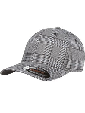 78104826ac8b1 Product Image The Hat Pros Fitted Hat Glen Check Patterned Fabric Flexfit  Cap 6196 Small Medium