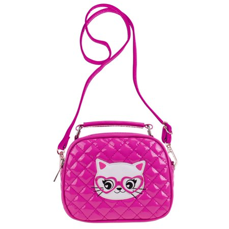 35ffefe534f4 Ava   Kings - Ava   Kings Quilted Glossy PU Leather Cross body Bag Purses  for Children   Little Girls - Various Styles - Walmart.com