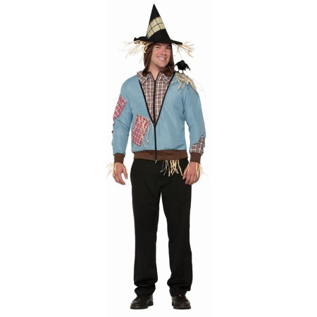 Scarecrow Hoodie Adult Costume - Scarecrow Costume For Adults