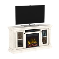 "Brayer White Oak TV Stand for TVs up to 60"" with Electric Fireplace"