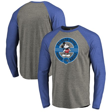 new concept 43394 92601 Orlando Magic Fanatics Branded Disney Mickey's True Original Seal Raglan  Tri-Blend Long Sleeve T-Shirt - Heathered Gray/Blue
