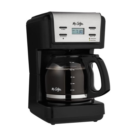 Mr. Coffee 12-Cup Programmable Coffee Maker, Black BVMC-KNX23