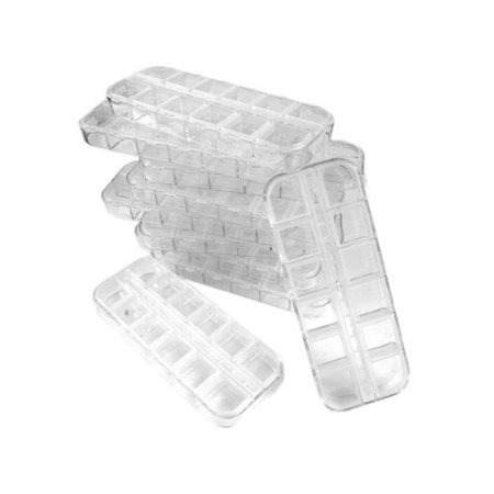10PC 12 Nail Art Plastic Craft Tool Box Empty Divided Case Box Tool Set By Beauticom From USA