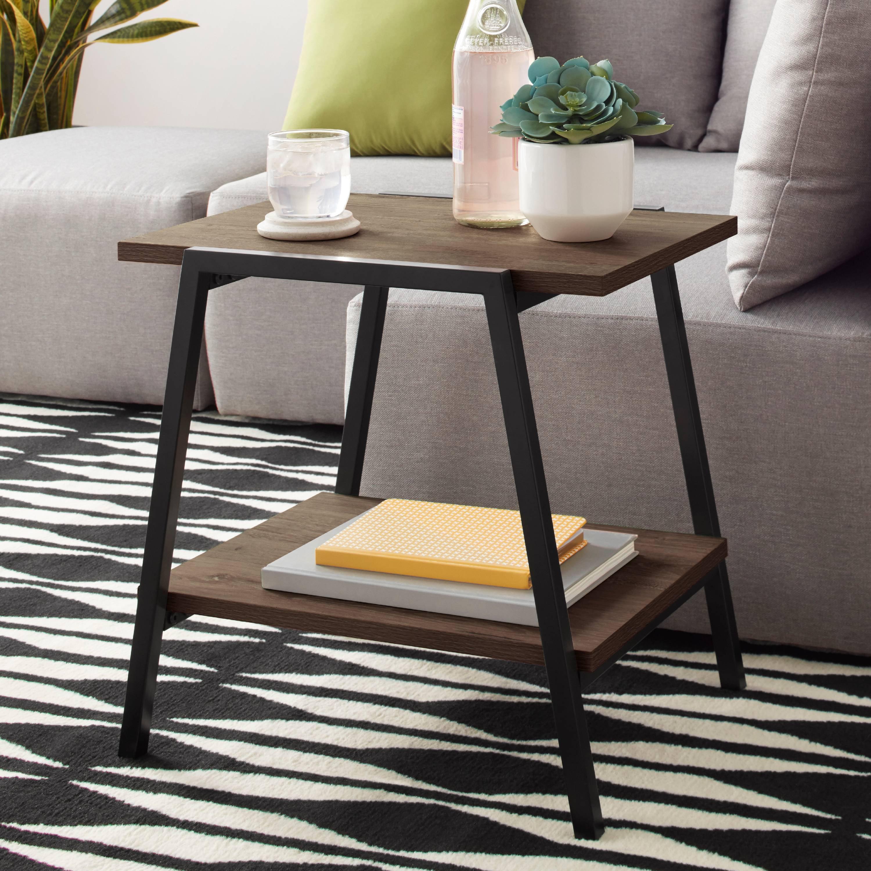 Mainstays Conrad Side Table With Shelf