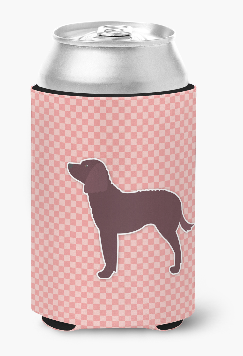 American Water Spaniel Checkerboard Pink Can or Bottle Hugger by Caroline's Treasures
